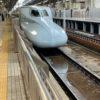 新幹線弁当で、ひといき、温まってます