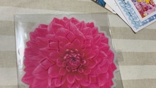 お土産に、フランフランの鍋敷きを買う、食卓が春だわ・・・庭の春待ち球根、咲きました。