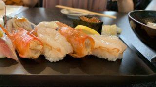 別居部屋を出て、今日は寿司の外食、初すしざんまい(*'ω' *)