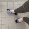 通勤に高齢者の友、らくらく靴を買う、ヒールなしです、楽ちんです、コケません。