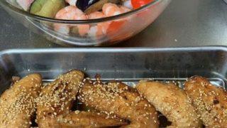 友人と食べるおうちゴハンに感謝する、久しぶりに今回はチョイ豪華版、お土産もね、