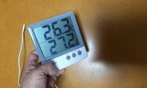 ペットの居るおうちは、「最高最低温度計」、いいですよ、必需品になってます(^_^)v