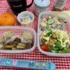 内緒で食べたのに、バレる・・今度はダイエット開始、忙しい(笑)サラダ・シュウマイ弁当