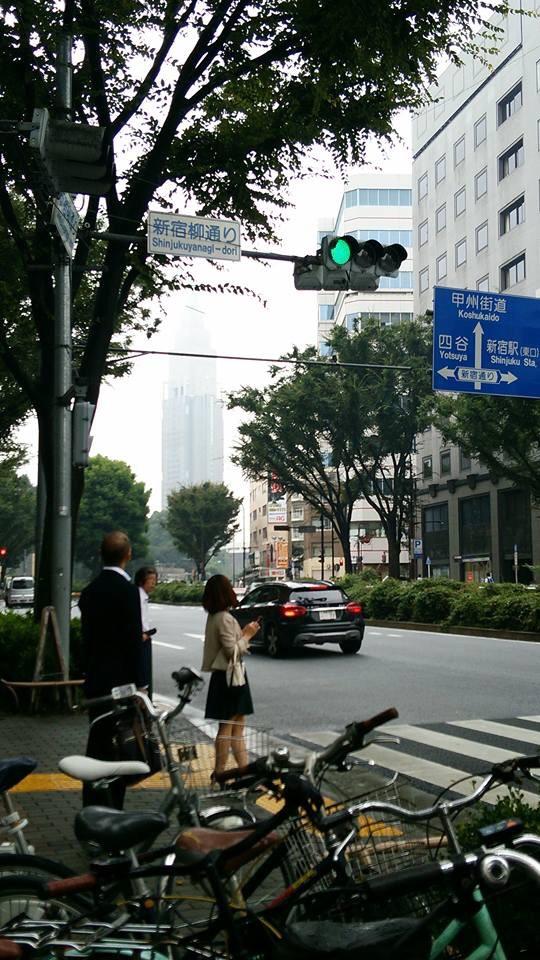 今日は新宿、デートです。